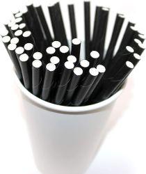 """Bio dégradables Straw-Stirrer Cocktail pailles agitateurs de papier, 5,75 """" cocktail coloré jetables sans BPA/des bâtonnets à café"""