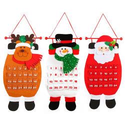 DIY の家のオフィス屋内装飾の装飾子供のギフトは感じた クリスマスカレンダー