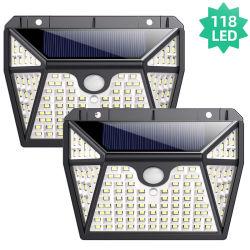 LED-Wand-heller im Freiensicherheits-Beleuchtungsolarnightlight mit Bewegungs-Fühler-Detektor für Garten-Hintertür-Jobstepp-Treppen-Zaun-Plattform
