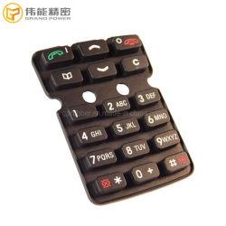 Kundenspezifischer Silikon-Tastaturblock-Handy-Ersatzteil-Druckknopf für Handy