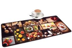 Нейлоновые петли ворса цифровой печати кухня коврики с Установите противоскользящие латекс резервного копирования