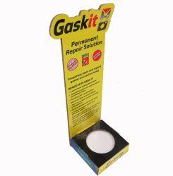 Ferramenta de longa, ferramenta de metal Cola Caixa de exibição de desktop Cartão Visor do tampo da mesa