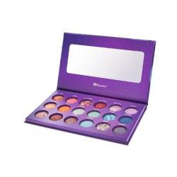 2021 جميلة أرجوانية اللون ورقة فارغة مواد Eyeshadow Palette مع المرآة