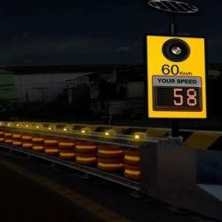 510X350 millimetro o barriera chiara del rullo di rotolamento di sicurezza stradale della gomma piuma LED dell'unità di elaborazione di Costum