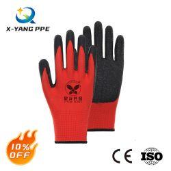 Meest concurrerende 13G Polyester Liner geknikte veiligheid met latex-coating Industriële werkhandschoenen met CE