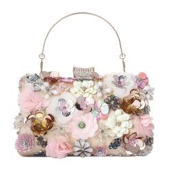 La moda barata Pearl Crystle parte elegantes señoras bolsas de la noche de flores