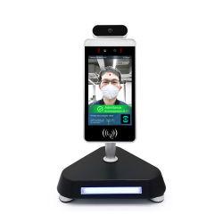カード読取り装置CCTVのカメラが付いている8inch IPS LCDの映画向きの顔および温度の認識のアクセス制御熱カメラおよび接触の赤外線