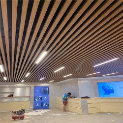 Decorativos em madeira de metal de alta qualidade falsa concepção de teto do Defletor de alumínio
