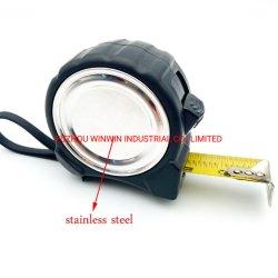 Nastro di misurazione con gancio magnetico con custodia in acciaio inox (WW-TMC18)