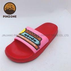 Padrão simples moda Vamp PVC EVA chinelos para o sexo feminino