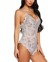 امرأة واحدة بدون ظهر الجنس Lingerie عميق في تيدي لاس ملابس داخلية ليلية بدلة الجسم