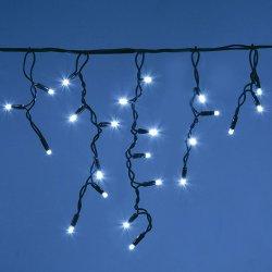 تزييني معلقة في الهواء الطلق سلسلة من المصابيح Garland عيد الميلاد دافئة أبيض LED سقوط جليد الستائر