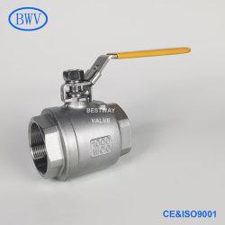 1000wog/1000psi Pn63 CF8 CF8m 304 sich hin- und herbewegendes Kugelventil des Edelstahl-316 Wcb NPT/BSPT/BSPP verlegtes industrielles 2PC