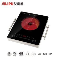 Estufa infrarroja eléctrica suave toque el equipo de cocina de 2000W el cuerpo de aluminio, aparato de cocina