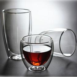 Parede dupla Ultra Clear Glass xícaras de café em vidro canecas de Água