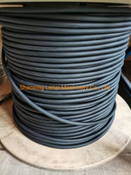 천장 동력으로 사용되는 두 개의 강철이 있는 PVC 둥근 케이블 공급