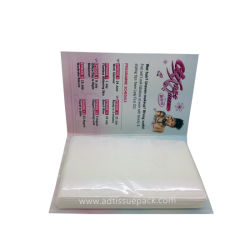 소형 조직 지갑 조직을 인쇄하는 조직을 광고하는 카드 조직 팩