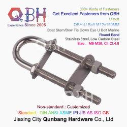 Qbh OEM ODM Tunnage Chantier de Construction de navires de la structure et carrée ronde Bend du support de tuyau en acier au carbone en acier inoxydable plaqué zinc U vis accessoires marins