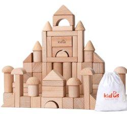 Eco-Friendly Figura Natural bloqueia o brinquedo de madeira Blocos de Construção de brinquedos a definir