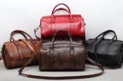 공장 Handmade 좋은 품질 가죽 디자이너 핸드백 포도 수확 여행 작풍 옥외 끈달린 가방 진짜 실제적인 암소 가죽 가방 (F10630)