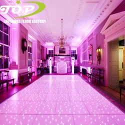 Huur het UK van Dance Floor van het Huwelijk van de zwarte/Witte Dansende Romantische LEIDENE van de Partij de Door sterren verlicht Projectie van Gevolgen