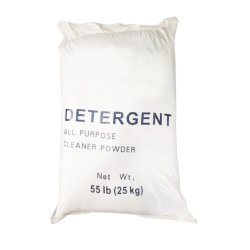 A GRANEL DE ALTA CALIDAD OEM fragancia de limón Light Blue Detergente en Polvo 50Kg 25kg detergente en polvo de lavado de espuma alta