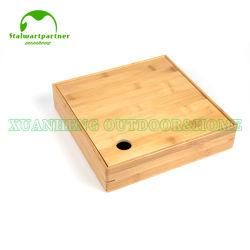 마른 과일 상자 음식 부엌 나무로 되는 대나무 저장 상자