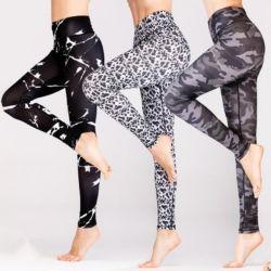 Étoffes de bonneterie transparente de la mode féminine Slimming Spandex personnalisé le ventre de gros de contrôle de filles sexy Mesdames jambières Pantalon de Yoga pour les femmes