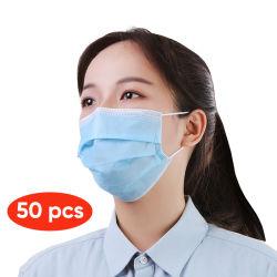 Fabricante do filtro de febre aftosa projetada de 3 camadas de proteção contra poeira máscara descartável