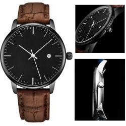 Тенденция дизайн черный элегантный моды подарок 5 ATM Водостойкий Японии Movt задней панели из нержавеющей стали Man кварцевые часы