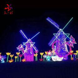 Das 2020 neueste Produkt-im Freien riesige kundenspezifische Weihnachten verzieren Windmühlen-Segeln-Form-Motiv-Beleuchtung