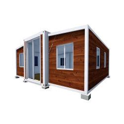 Houten Korrel 40 voelt het Vervaardigde Uitzetbare Huis van de Container van de Container 20FT Uitzetbare