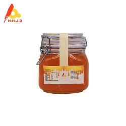 De ruwe Zuivere Honing van de Bij in 1kg de Kruik van het Glas van het Slot van het Staal