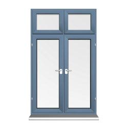 実質の工場製造業者の製造者のアルミニウム日除けの弓湾のフランスの開き窓の振動Windows