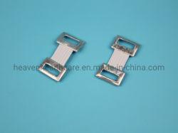 Weiße elastische Verband-Klipps mit elastischem Band