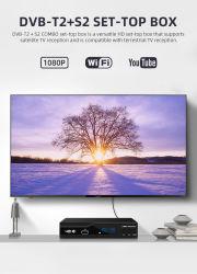Récepteur TV satellite numérique terrestre Combo DVB T2 + S2 HD 1080p