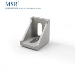 4040A 코너 부류 프레임을%s 알루미늄 밀어남 부속 안쪽에 Die-Cast 알루미늄 2 구멍