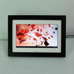 10 polegadas de tela de toque WiFi moldura fotográfica digital de madeira