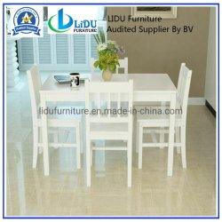 木足を搭載する純粋な純木の家具の最もよいダイニングテーブル