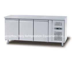 Undercounter nevera / Chiller Undercounter / Tres puerta de cristal Workbench refrigerador
