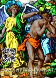 La expulsión de la Iglesia de vidrio Eden-Stained Windows Vidrieras Vidrieras paneles