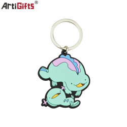 Custom Cartoon Dinossauro Chaveiro PVC Keyring Porta-chaves