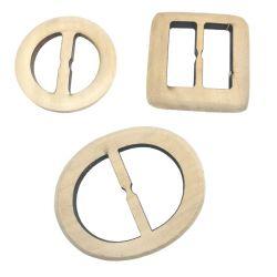 Antique rond en bois sculpté à la main la boucle de ceinture, l'usine Loisirs carré en bois/Round boucles de ceintures de corde tressée s'étirer les femmes