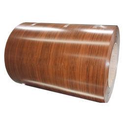 Bobine d'aluminium à revêtement de couleur du grain du bois