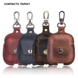 Защитный кожух Airpods Vintage итальянский Crazy Horse кожи для Apple Wireless Bluetooth Airpods2 гарнитуры
