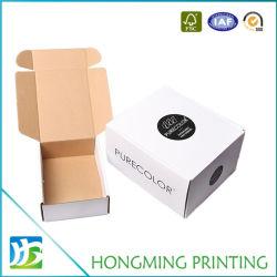 Comercio al por mayor blanco de lujo personalizado de transporte de cajas de cartón plegado de papel de regalo color caja de embalaje de cartón corrugado para la entrega