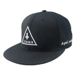 Hip Hop personalizado Hat Black 6 Tampa Snapback do painel de bordo rasante
