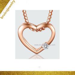 Novo Design 18K Rose gold plating pendente de coração para meninas