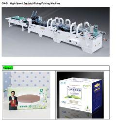 Prefolding automática Medicina Caixa Farmacêutica Gluer Pasta Máquina (GK-780B)