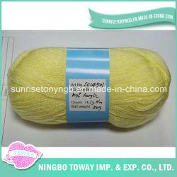 Commerce de gros crochet de la laine à tricoter à la main de fils de coton de fils en acrylique